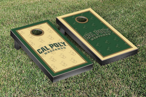 Cal Poly Mustangs Cornhole Game Set Border Version 2 - Victory Tailgate 32986