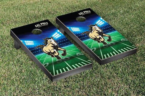 Cal Poly Mustangs Cornhole Game Set Stadium Version - Victory Tailgate 32987