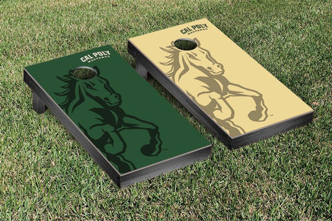 Cal Poly Mustangs Cornhole Game Set Watermark Version - Victory Tailgate 32988