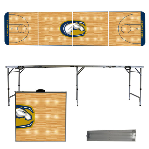 The UC Davis Aggies Basketball Court Version Portable Tailgating and Cup Game Table
