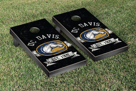 California University of Davis Aggies Cornhole Boards and bags, Banner Vintage Version - Victory Tailgate 36548