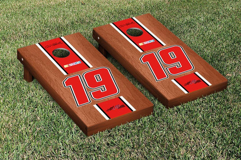 NASCAR Rosewood Striped Version Cornhole Game Set by Victory Tailgate