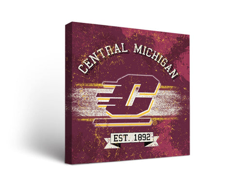 Central Michigan University Chippewas Man Cave wall art - Banner Design
