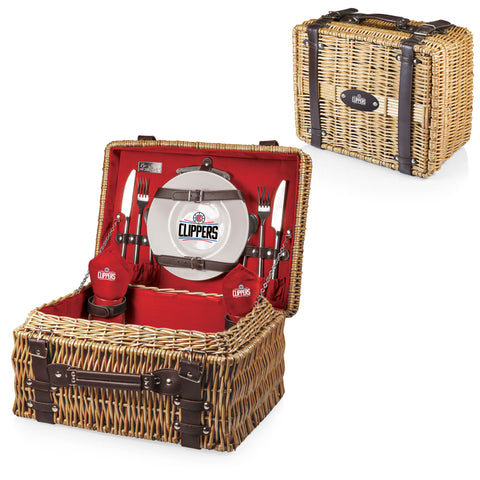 Los Angeles Clippers Champion Picnic Basket by Picnic Time