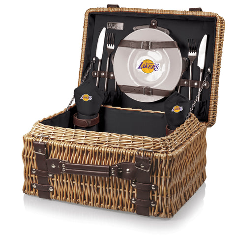 Los Angeles Lakers Champion Picnic Basket by Picnic Time