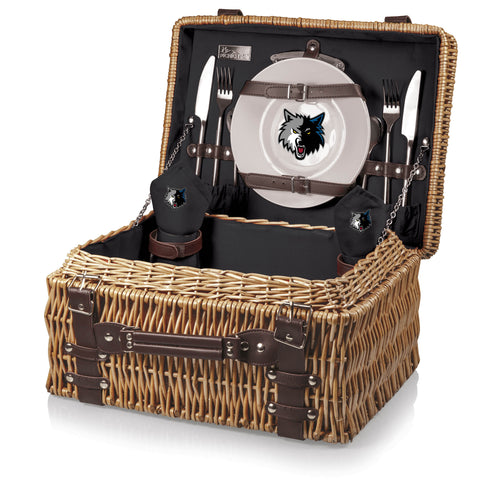 Minnesota Timberwolves Champion Picnic Basket by Picnic Time