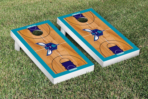 Charlotte Hornets Cornhole Game Set Basketball Court Version - Victory Tailgate 28561