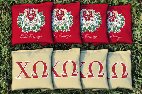 Chi Omega Replacement Cornhole Bag Set  (corn filled)