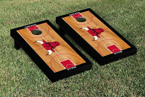 Chicago Bulls Cornhole Game Set Basketball Court Version - Victory Tailgate 28579
