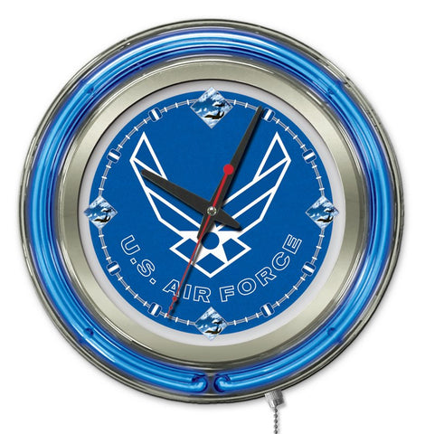 U.S. Air Force Neon Clock