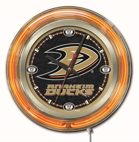 Anaheim Ducks Neon Clock
