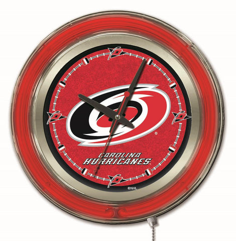 Carolina Hurricanes Neon Clock