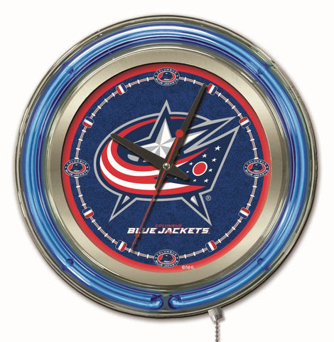Columbus Blue Jackets Neon Clock