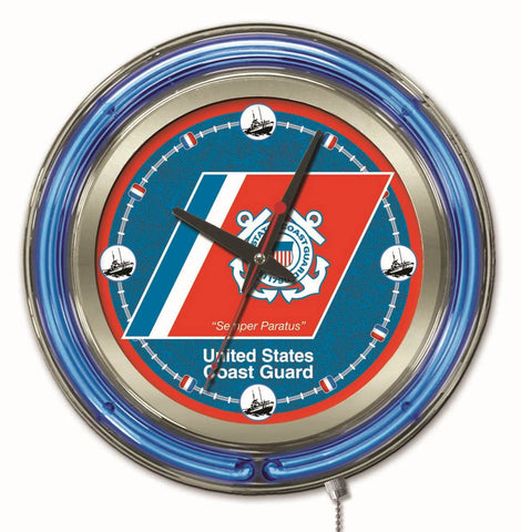 U.S. Coast Guard Neon Clock
