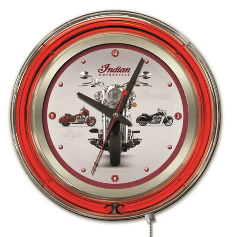 Indian Motorcycle Multi-Bike Neon Clock
