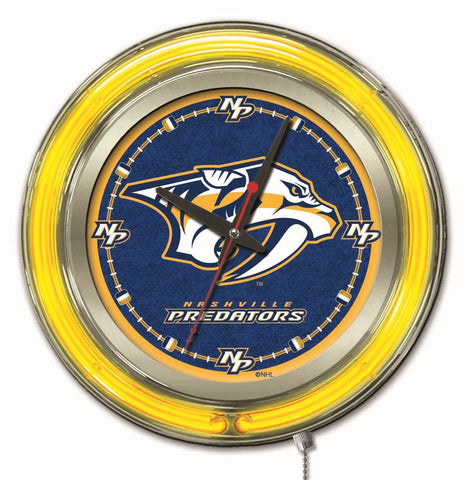 Nashville Predators Neon Clock