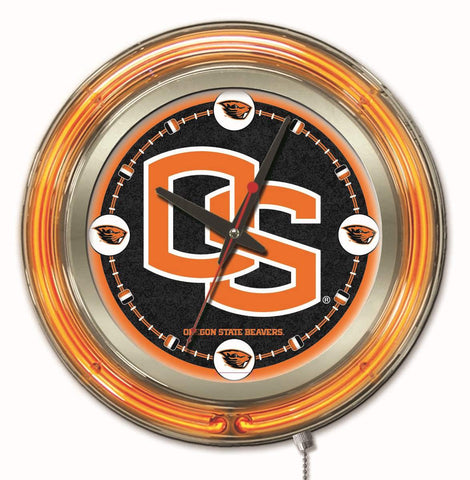 Oregon Ducks 15 inch diameter clock - HBS Clk15OregSt