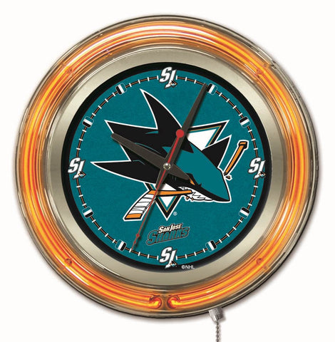 San Jose Sharks Neon Clock