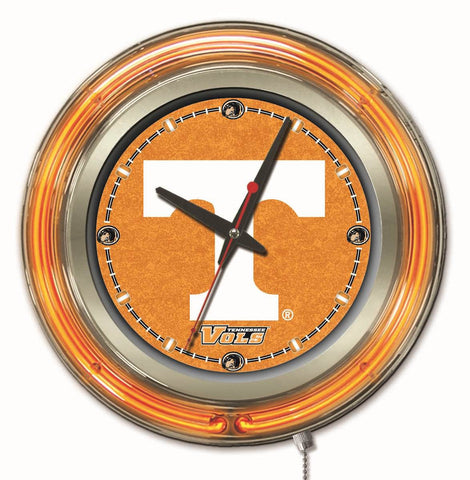 UT Volunteers 15 inch diameter clock - HBS Clk15Tennes