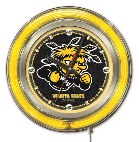 Wichita State  Shockers 15 inch diameter clock - HBS Clk15WichSt