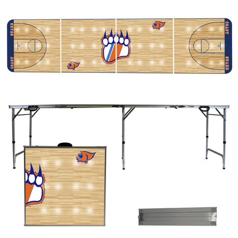 The USCGA Bears Basketball Court Version Portable Tailgating and Cup Game Table