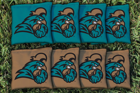 Coastal Carolina Chanticleer Cornhole Bag Replacement Set (Corn Filled)