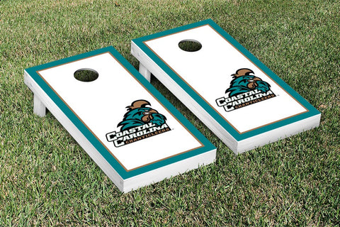 Coastal Carolina CCU Chanticleers Cornhole Game Set Border Version - Victory Tailgate 8260
