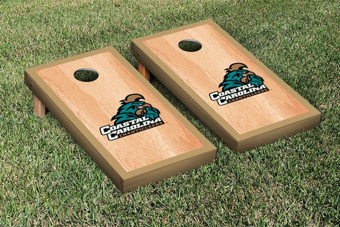 Coastal Carolina CCU Chanticleers Hardcourt Version Cornhole Set Victory Tailgate 16773