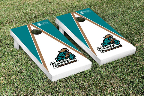 Coastal Carolina CCU Chanticleers Cornhole Game Set Triangle Version - Victory Tailgate 8262