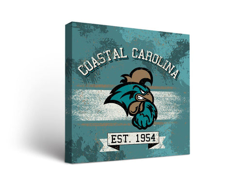 Coastal Carolina University Chanticleers Man Cave wall art - Banner Design