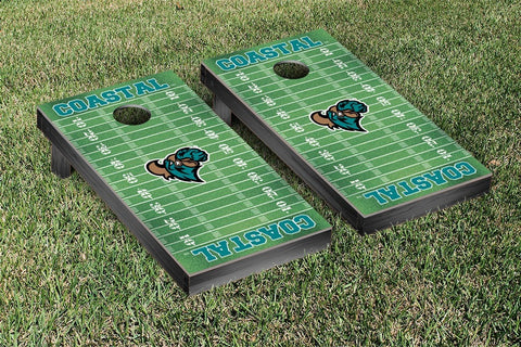 Coastal Carolina CCU Chanticleers Cornhole Game Set Football Field Version - Victory Tailgate 33229