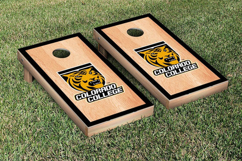 Colorado College Tigers Cornhole Game Set Hardcourt Version - Victory Tailgate 29506