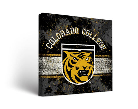 Colorado College Tigers Man Cave wall art - Banner Design