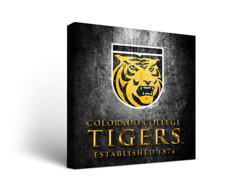 Colorado College Tigers Man Cave wall art - Metal Design