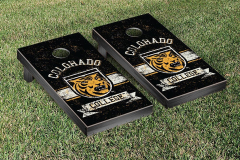 Colorado College Tigers Cornhole Boards and bags, Banner Vintage Version - Victory Tailgate 33020