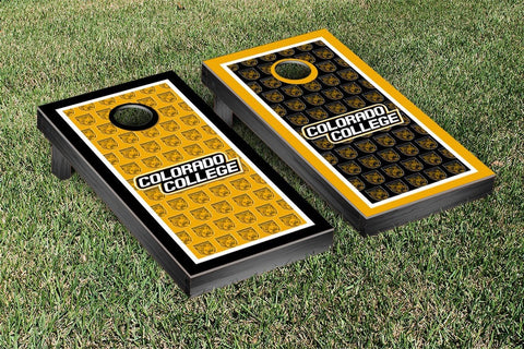 Colorado College Tigers Cornhole Game Set Border Version 2 - Victory Tailgate 33021