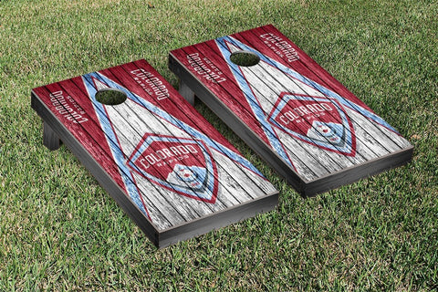Colorado Rapids Weathered Triangle Version Cornhole Game Set by Victory Tailgate