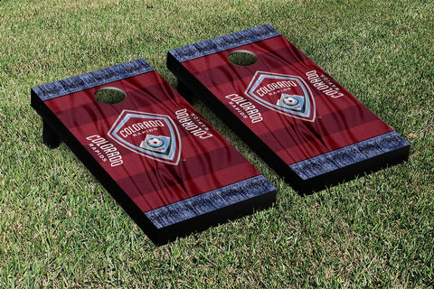 Colorado Rapids MLS Soccer Scarf Version Cornhole Game Set by Victory Tailgate