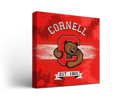 Cornell University Big Red Man Cave wall art - Banner Design