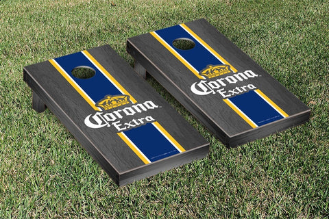 Corona Onyx Stained Stripe Version Cornhole Set by Victory Tailgate