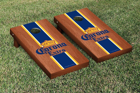 Corona Rosewood Stained Stripe Version Cornhole Set by Victory Tailgate