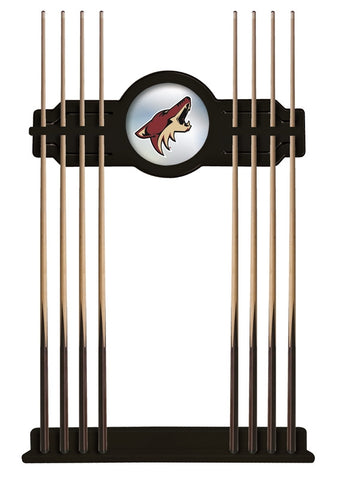 Arizona Coyotes Cue Rack in Black Finish
