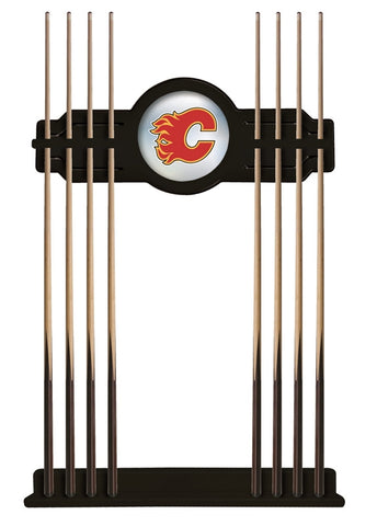 Calgary Flames Cue Rack in Black Finish