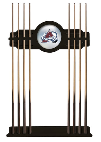 Colorado Avalanche Cue Rack in Black Finish