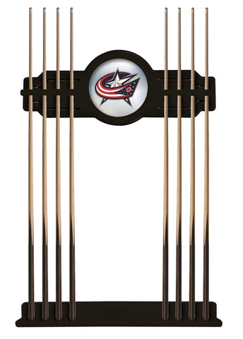 Columbus Blue Jackets Cue Rack in Black Finish