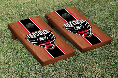 DC United Rosewood Stained Stripe Version Cornhole Game Set by Victory Tailgate