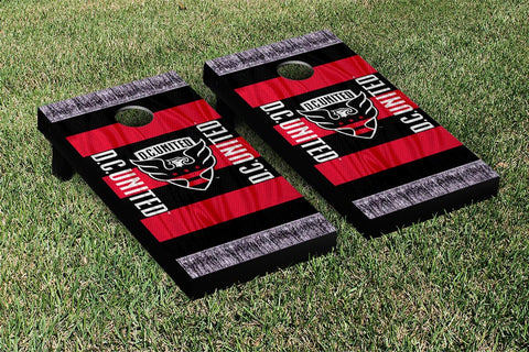 DC United MLS Soccer Scarf Version Cornhole Game Set by Victory Tailgate