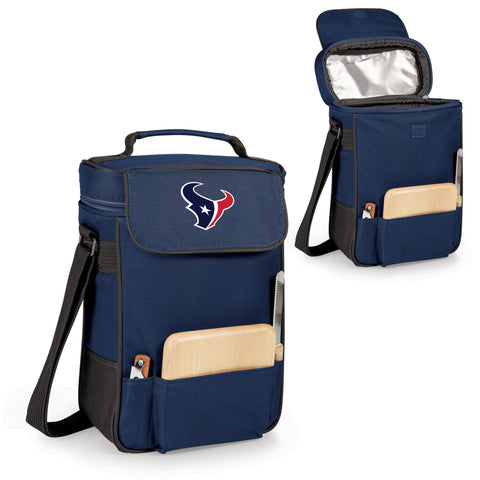 The Houston Texans Duet Wine Tote with Cheese Board