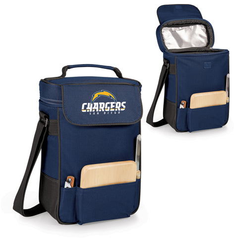 The San Diego Chargers Duet Wine Tote with Cheese Board