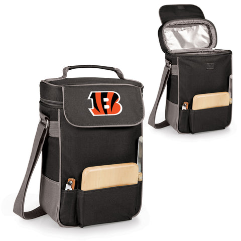 The Cincinnati Bengals Duet Wine Tote with Cheese Board